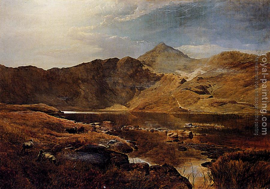 Sidney Richard Percy : Williams Cattle And Sheep In A Scottish Highland Landscape