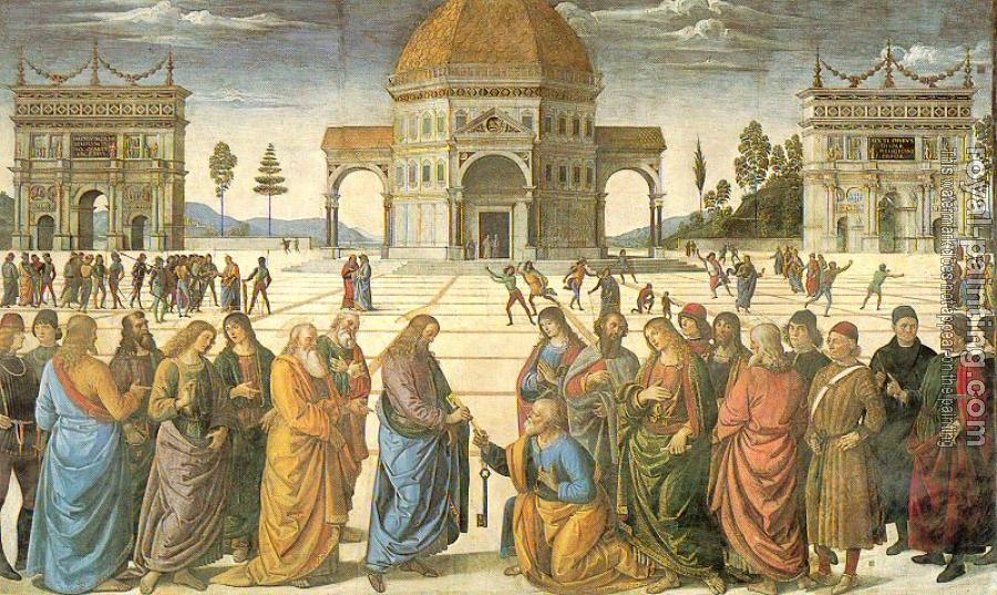 Pietro Perugino : Christ Giving the Keys to St. Peter