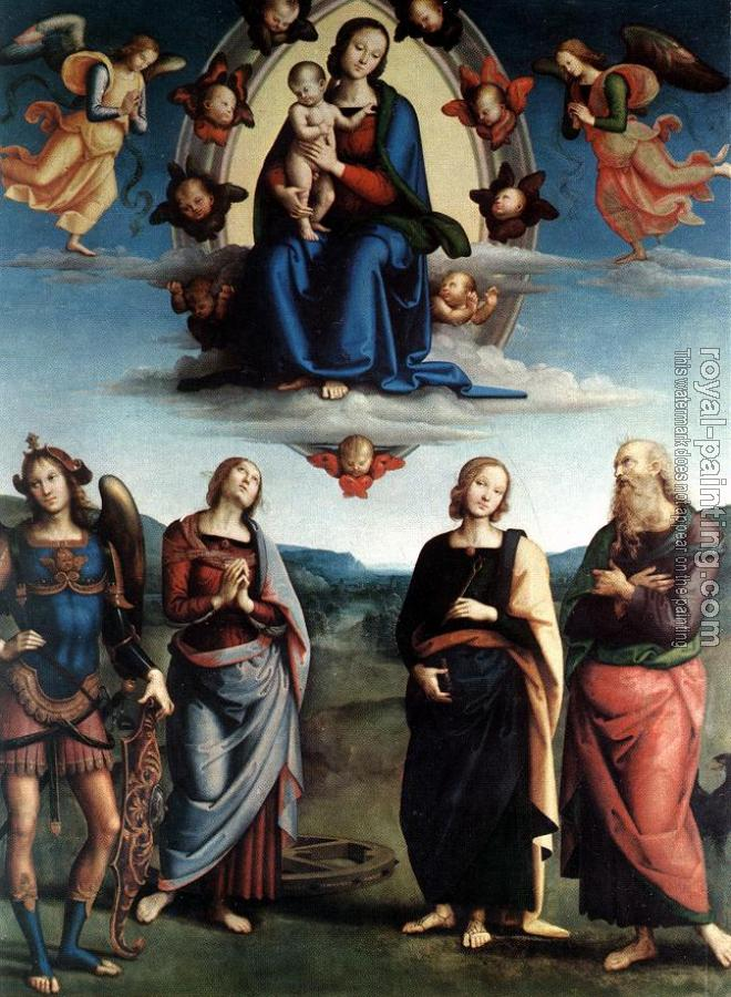 Pietro Perugino : Madonna in Glory with the Child and Saints