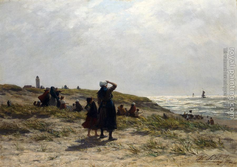 Philippe Lodowyck Jacob Sadee : Frederik The Return Of The Fishing Fleet Katwijk