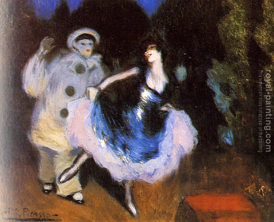 Pablo Picasso : pierrot and columbine