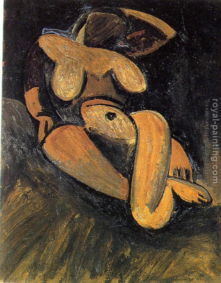 Pablo Picasso : reclining nude