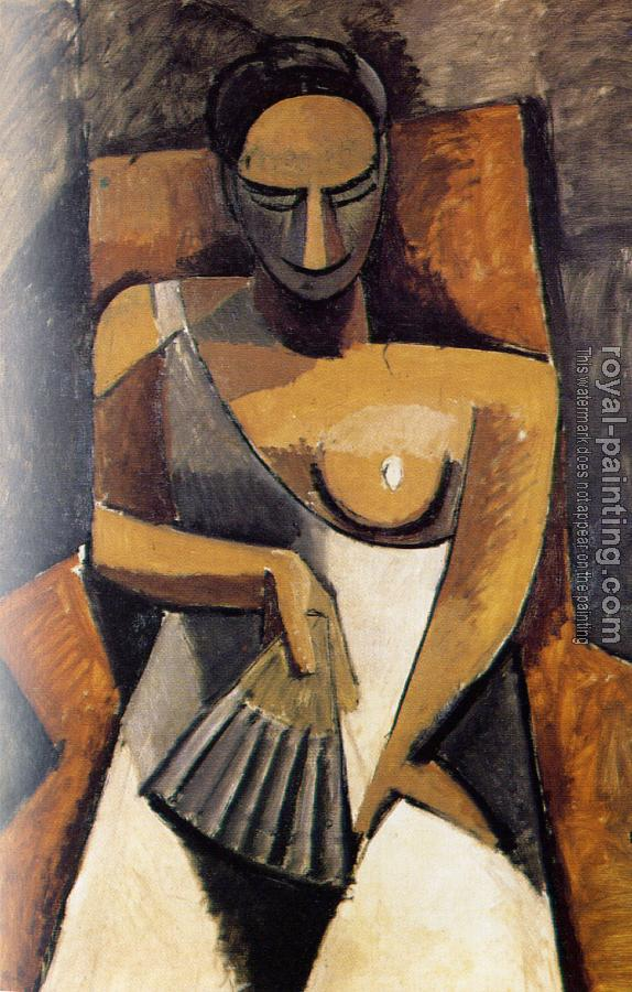 Pablo Picasso : woman with a fan