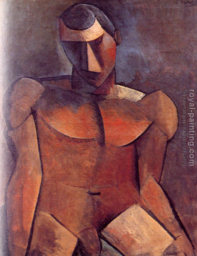 Pablo Picasso : seated male nude