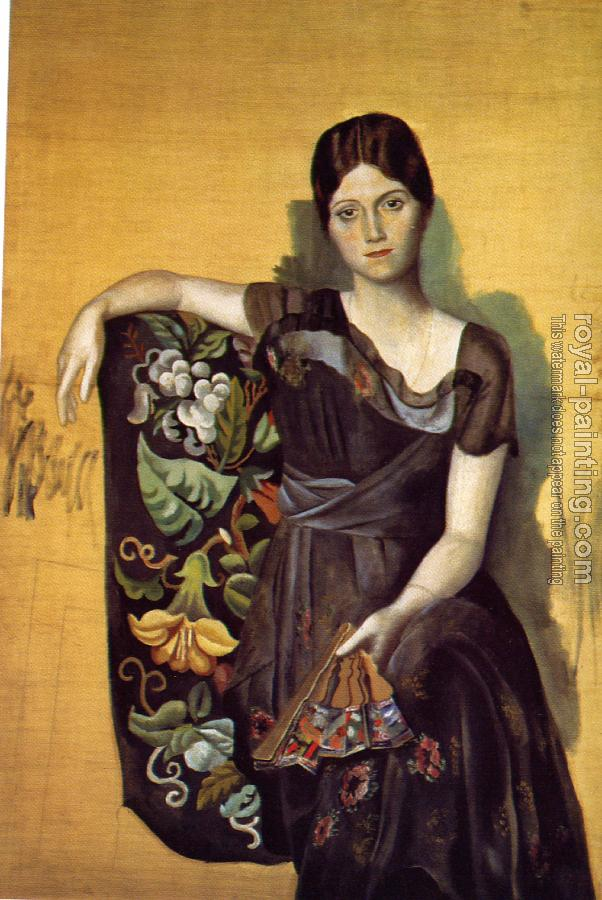 Pablo Picasso : portrait of olga in an armchair