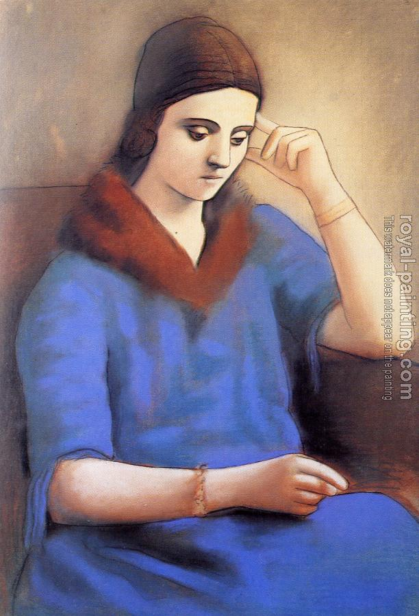 Pablo Picasso : olga in a pensive mood