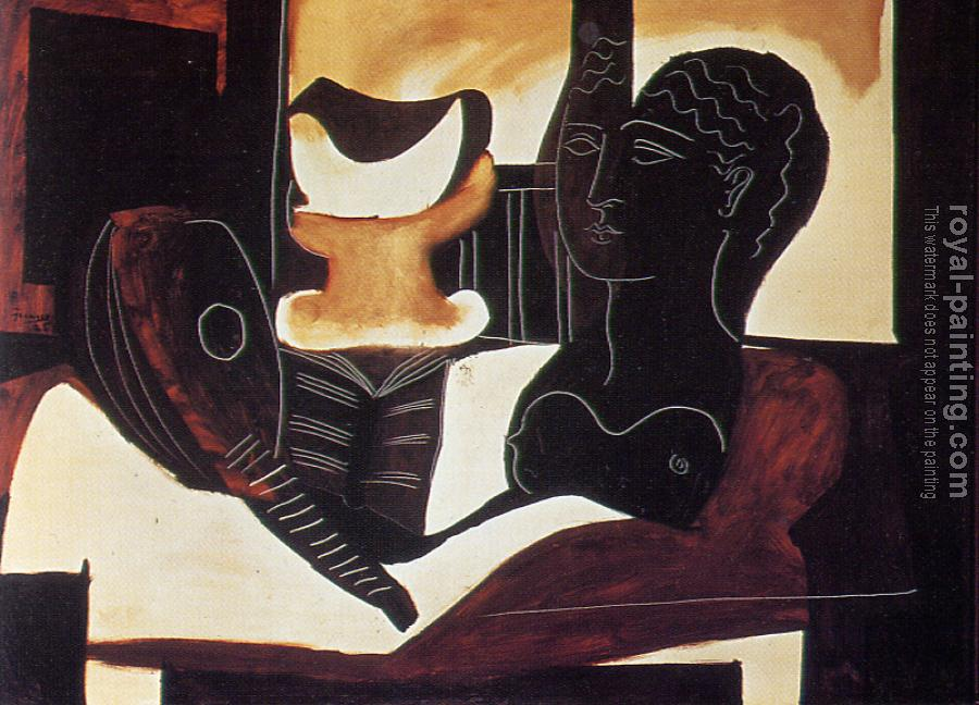 Pablo Picasso : still life with an antique bust