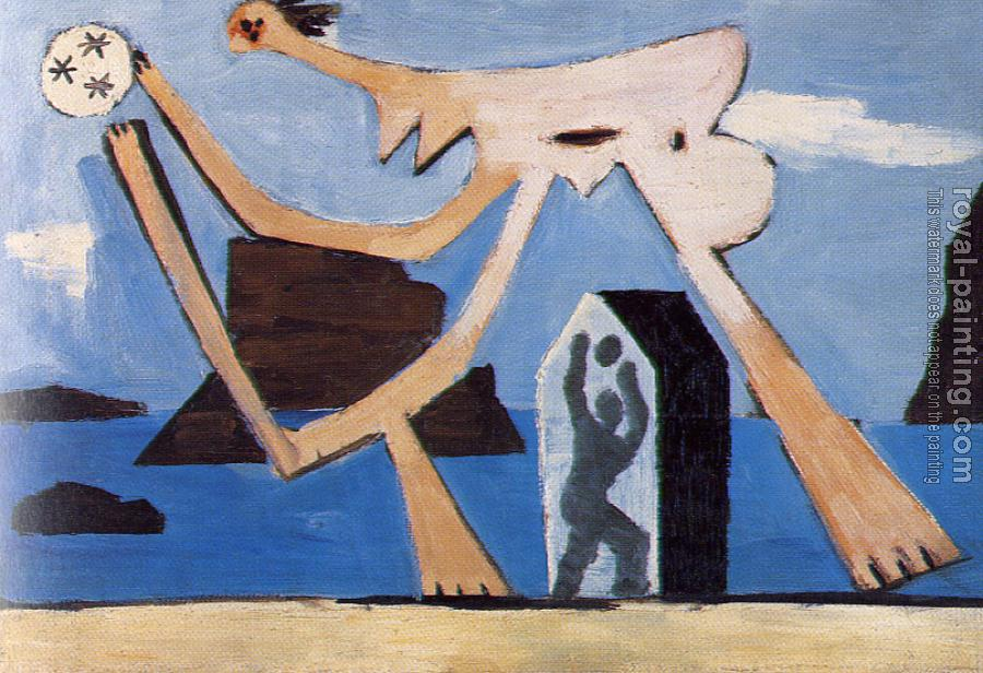 Pablo Picasso : playing ball on the beach