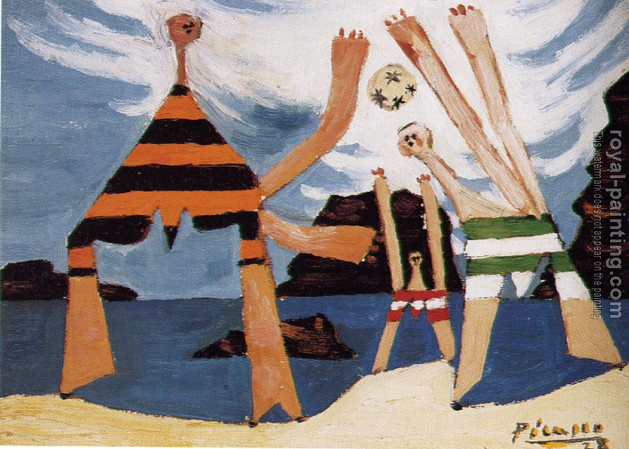 Pablo Picasso : bathers with a ball