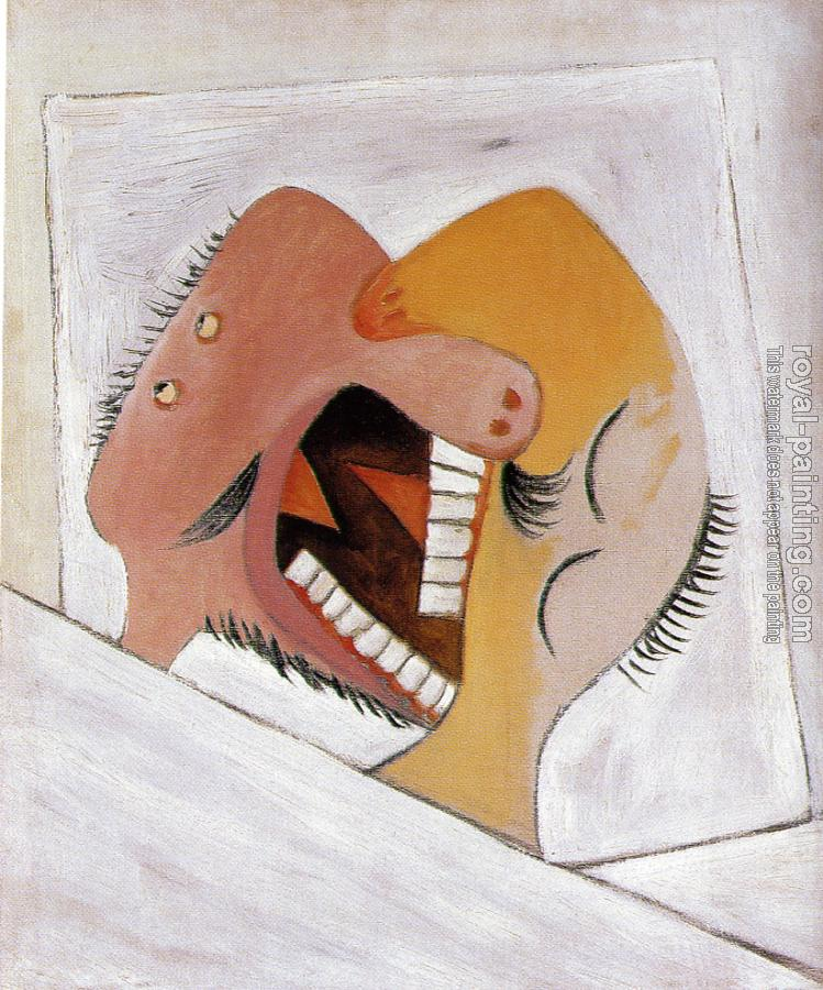 Pablo Picasso : the kiss II
