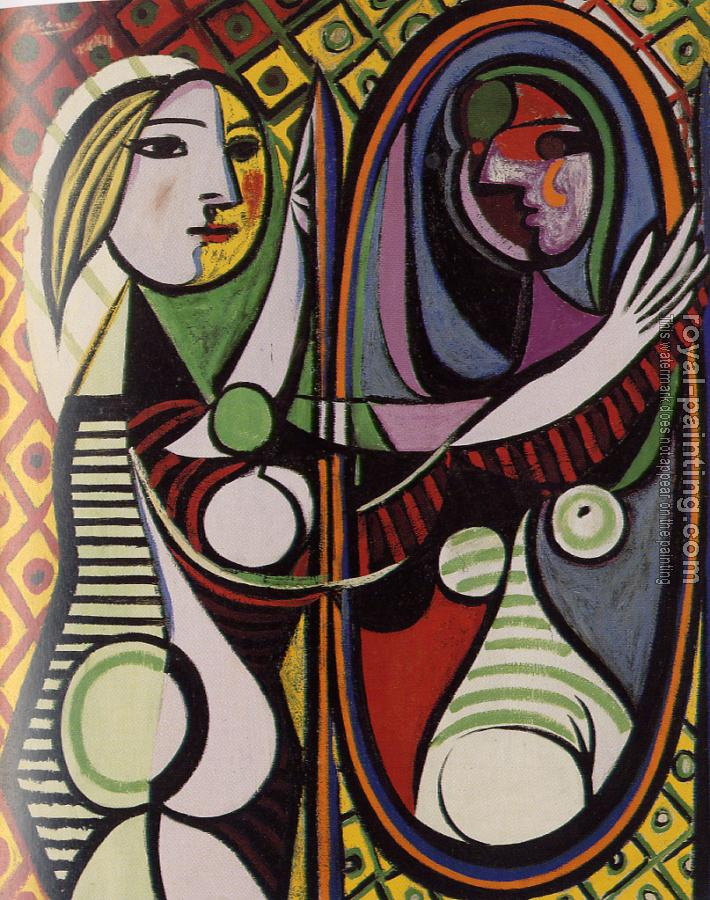 Pablo Picasso : woman at the mirror