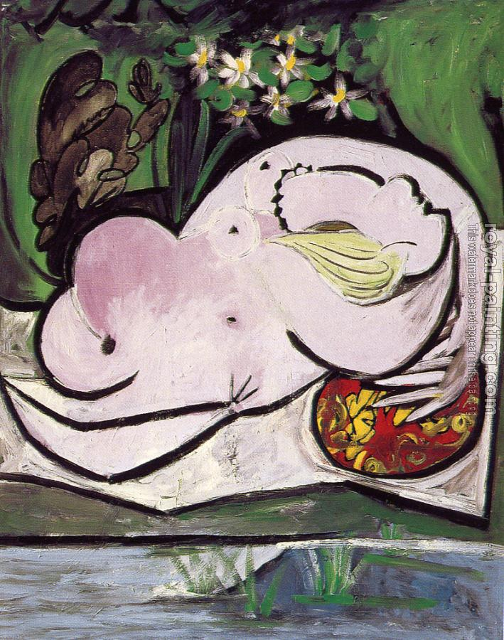 Pablo Picasso : nude in the garden