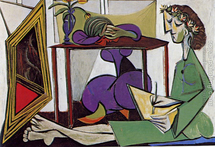 Pablo Picasso : two women in an interior