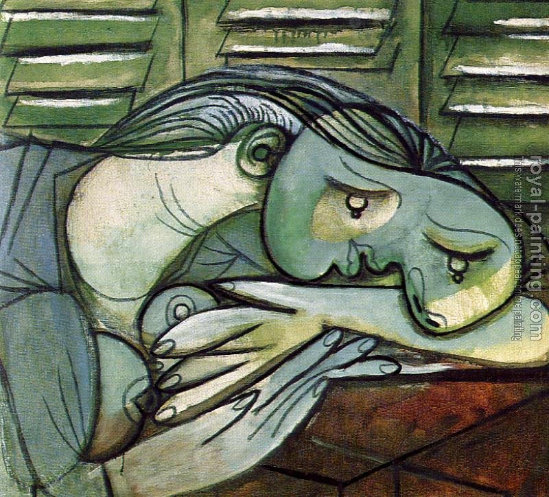 Pablo Picasso : sleeping woman with shutters