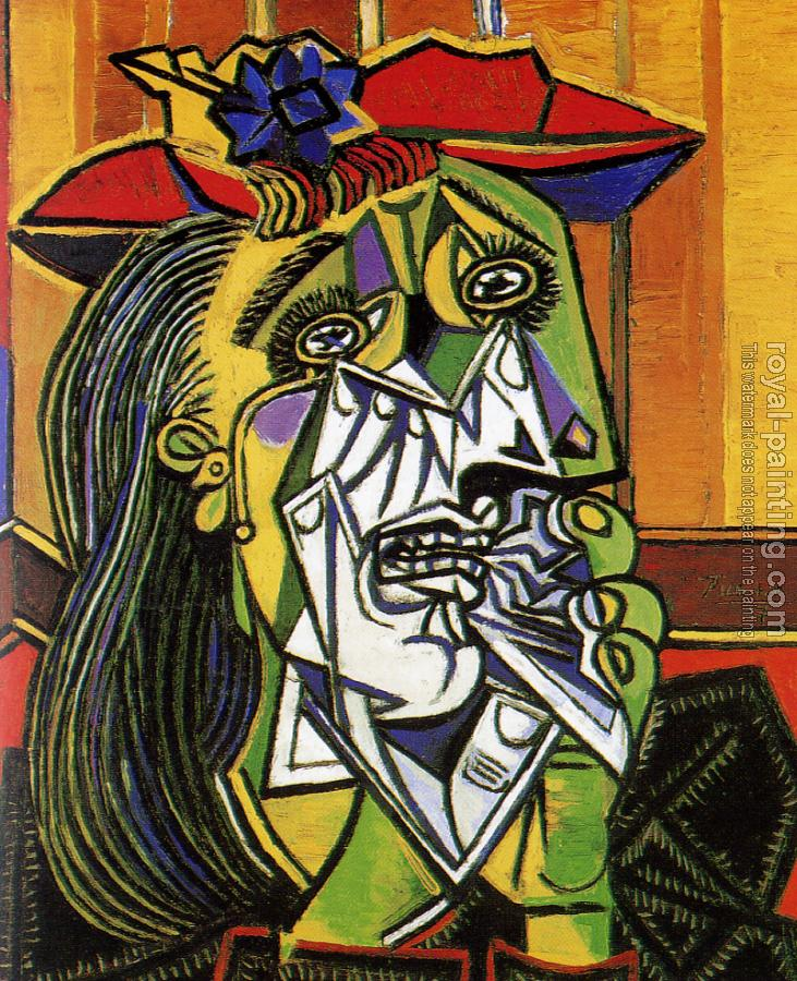 Woman in tears by pablo picasso oil painting reproduction for Picasso painting names