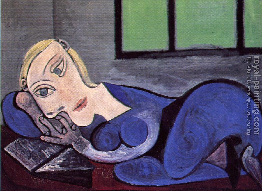 Reclining woman reading by pablo picasso oil painting for Picasso painting names