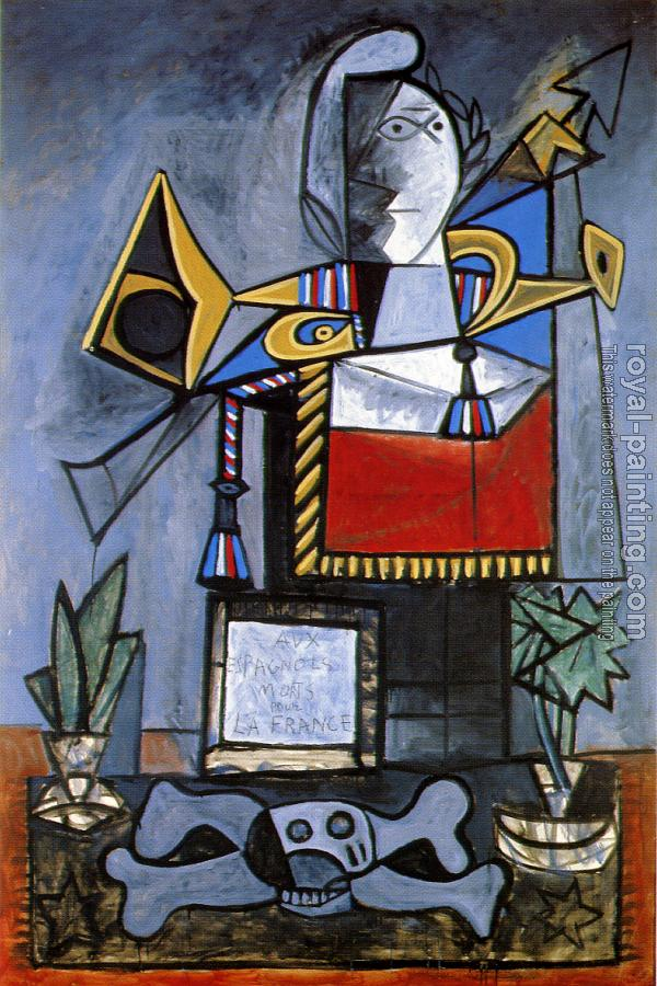 Pablo Picasso : homage to the spaniards who died for fiance