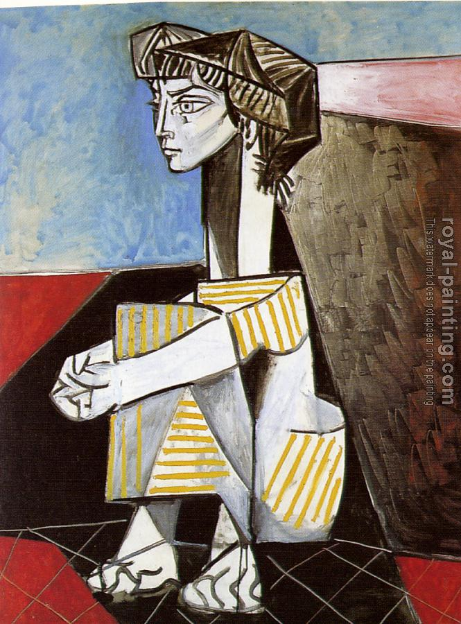 Pablo Picasso : jacqueline with crossed hands