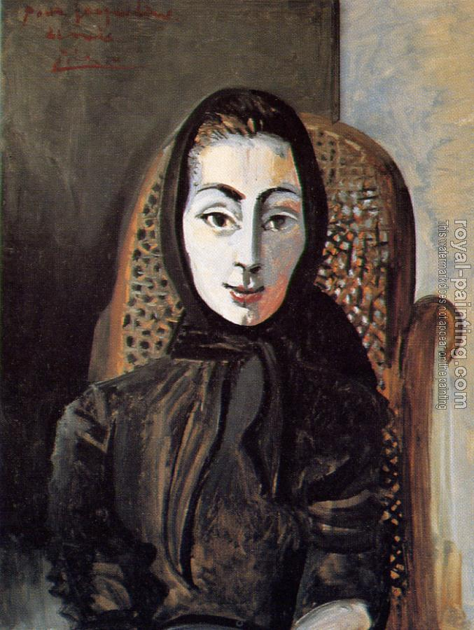 Pablo Picasso : jacqueline with a black shawl