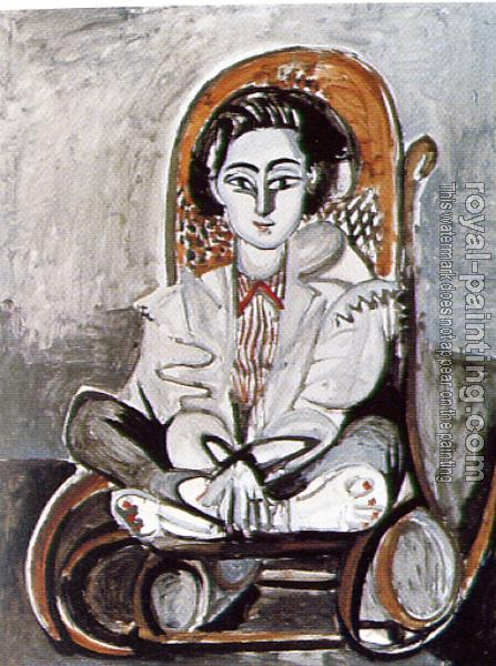 Pablo Picasso : jacqueline in a rocking chair