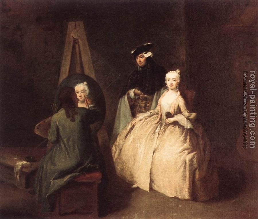 Pietro Longhi : Painter in his Studio