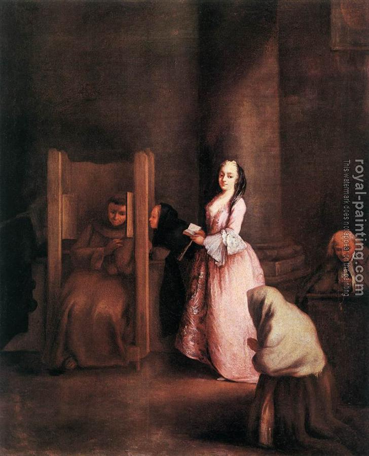 Pietro Longhi : The Confession