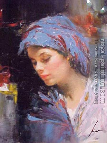 Pino Daeni : Portrait of a Lady
