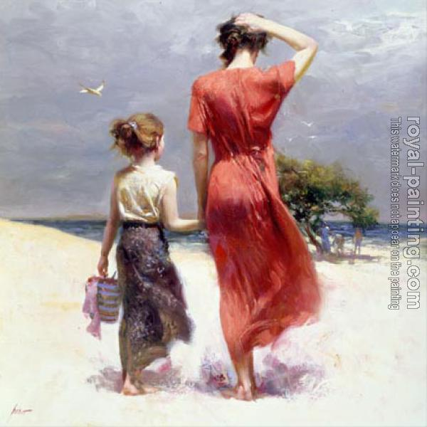 Pino Daeni : Afternoon Stroll