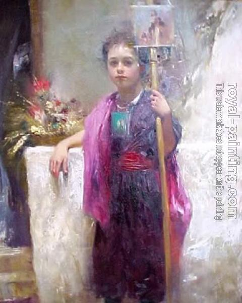 Pino Daeni canvas painting IV