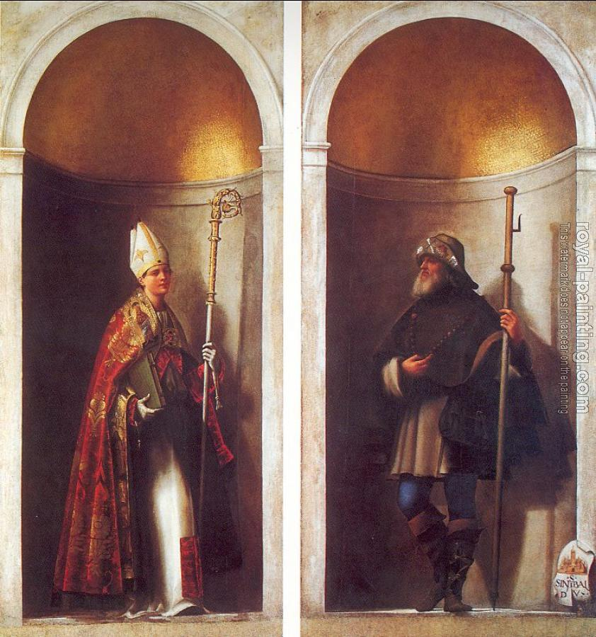 Sebastiano Del Piombo : St. Louis of Toulouse and St. Romuald