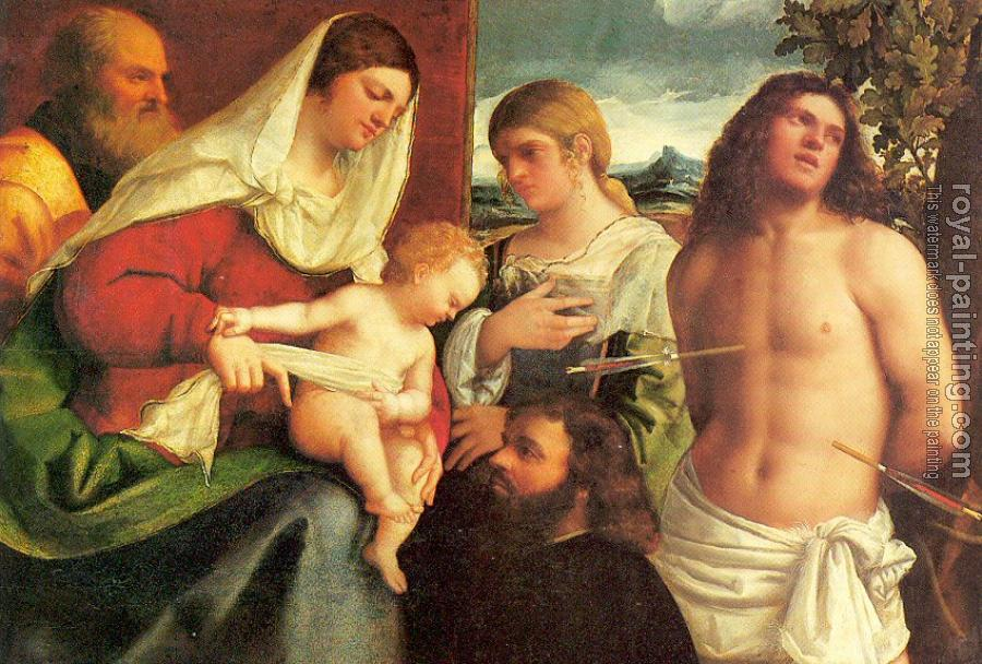 The Holy Family with Saints Catherine and Sebastian and a Donor