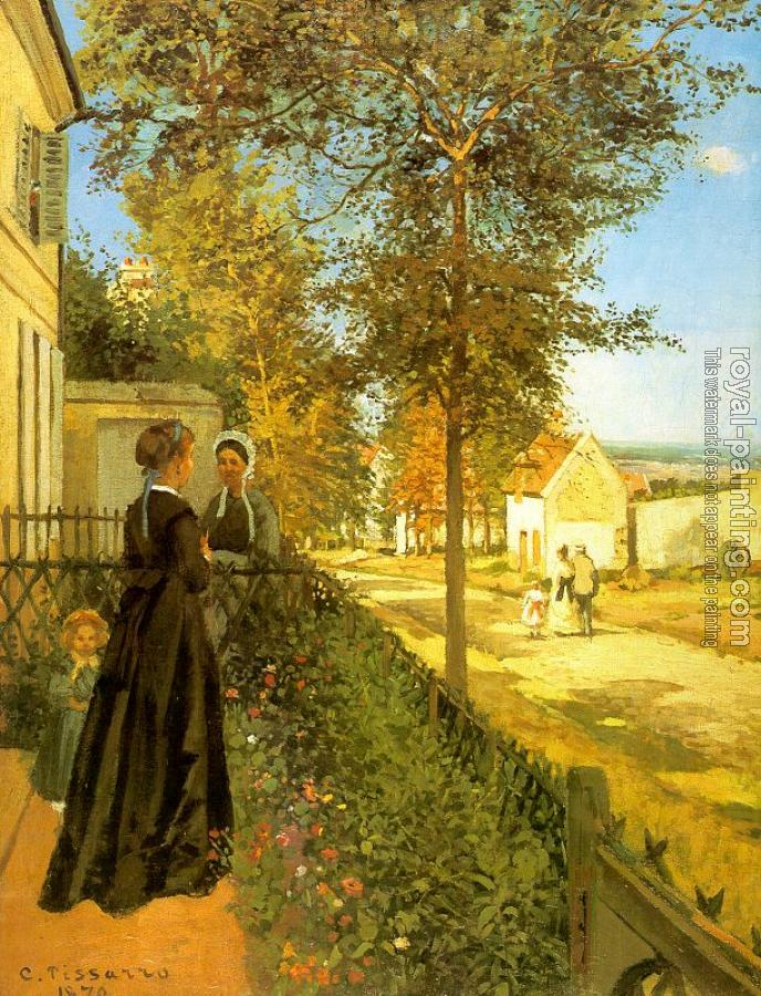 Camille Pissarro : Louveciennes: The Road to Versailles