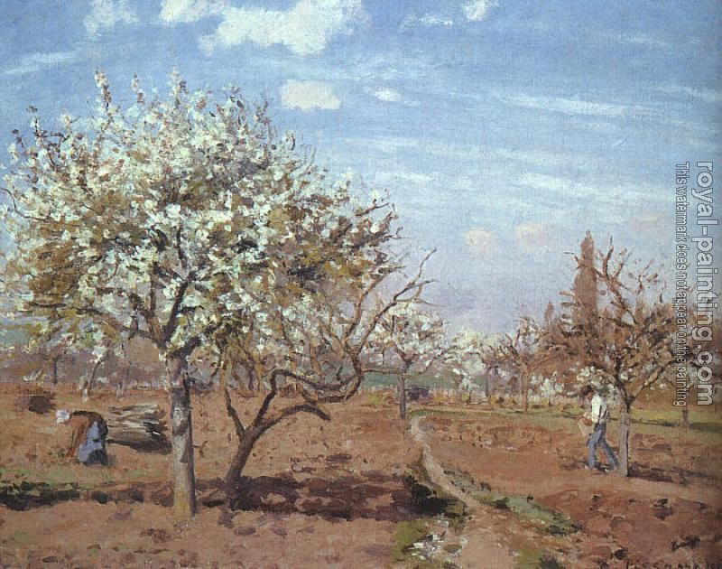 Camille Pissarro : Orchard in Bloom at Louveciennes