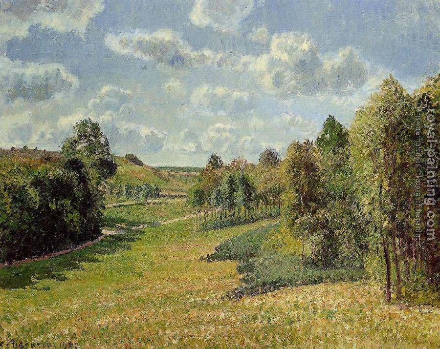 Camille Pissarro : Berneval Meadows, Morning