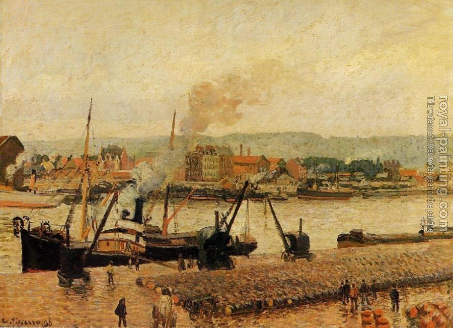 Camille Pissarro : Morning, after the Rain, Rouen