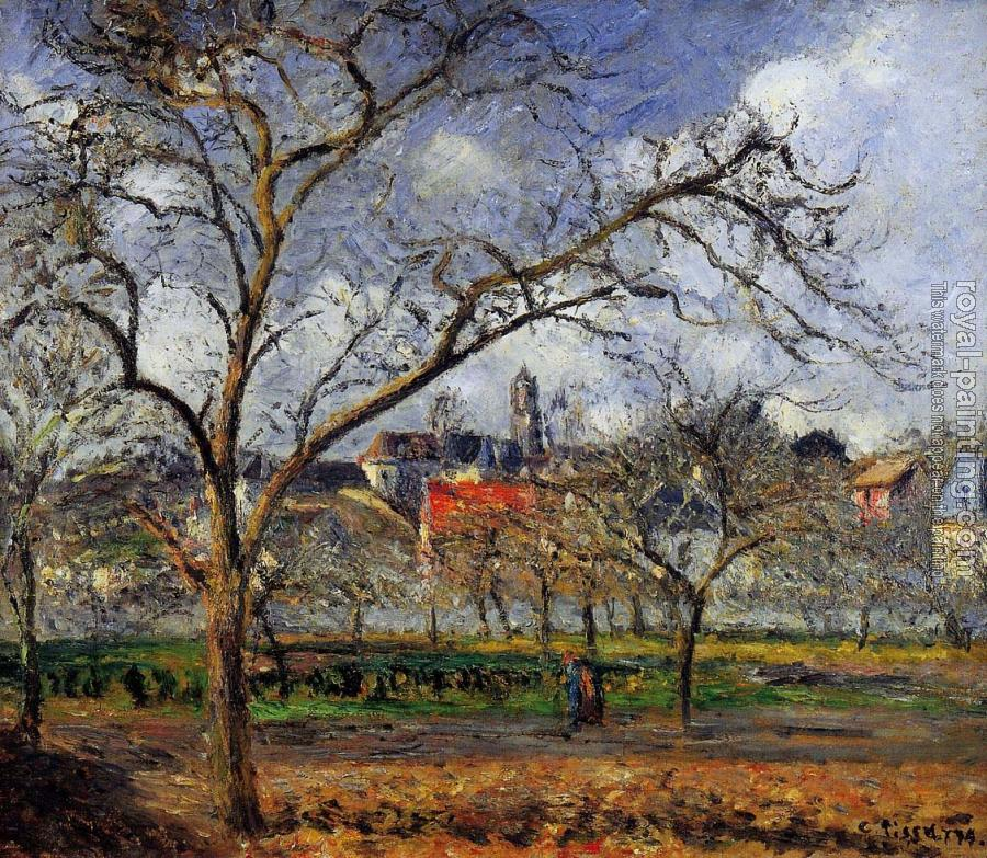 Camille Pissarro : On Orchard in Pontoise in Winter