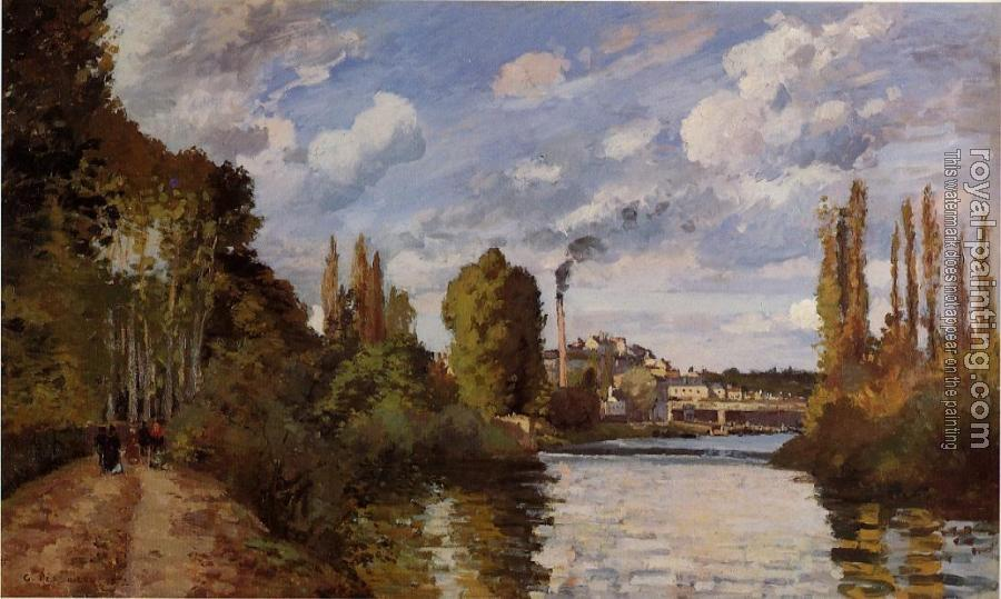 Camille Pissarro : Riverbanks in Pontoise