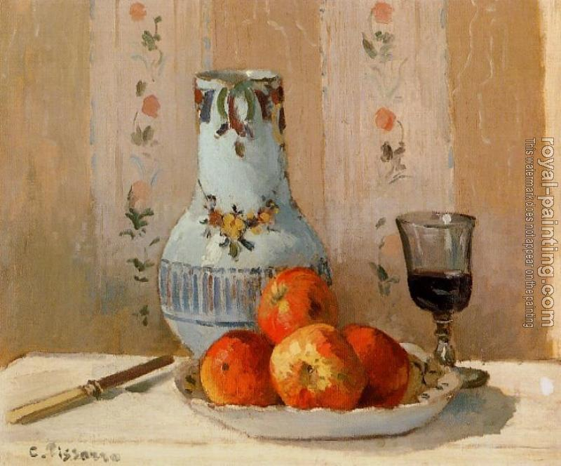 Camille Pissarro : Still Life with Apples and Pitcher