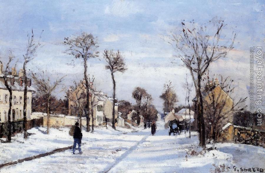 Camille Pissarro : Street in the Snow, Louveciennes