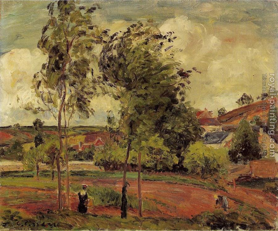 Camille Pissarro : Strong Winds, Pontoise