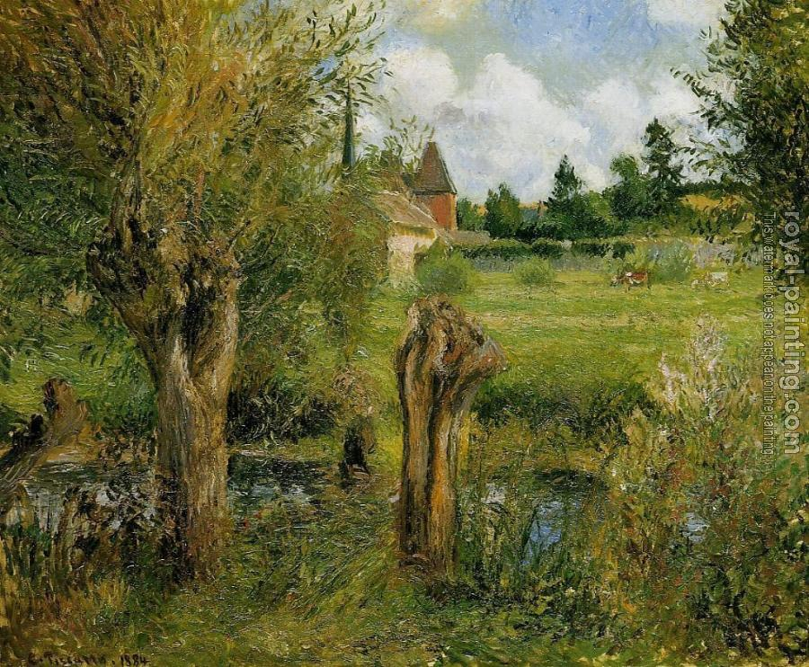 Camille Pissarro : The Banks of the Epte at Eragny