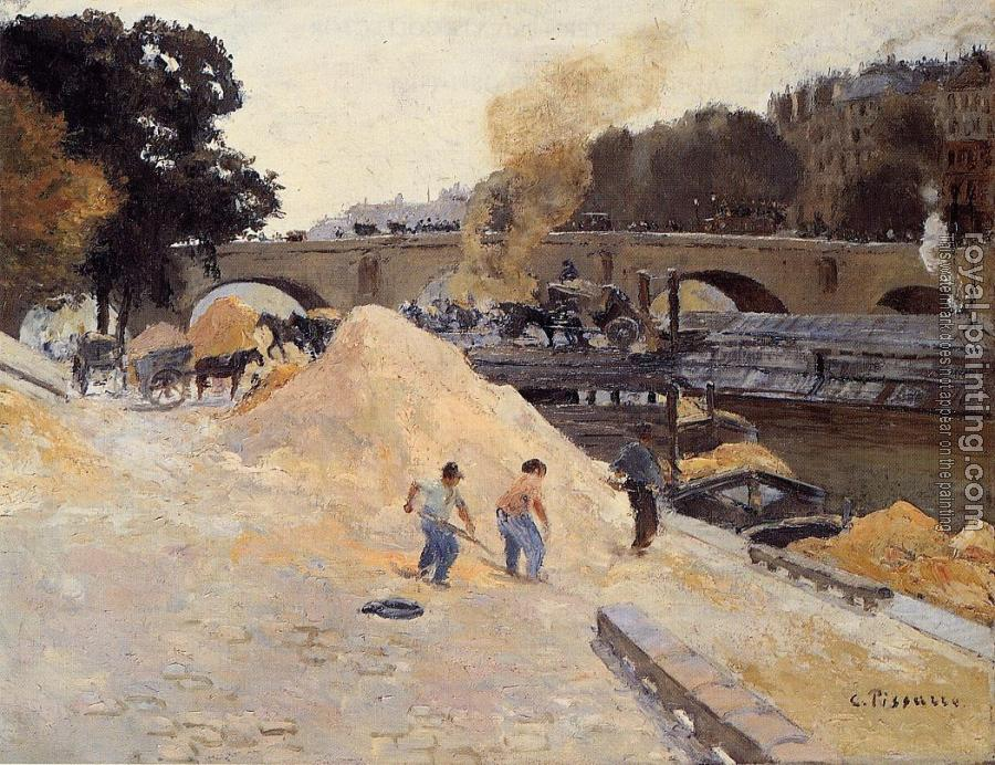 Camille Pissarro : The Banks of the Seine in Paris, Pont Marie, Quai d'Anjou