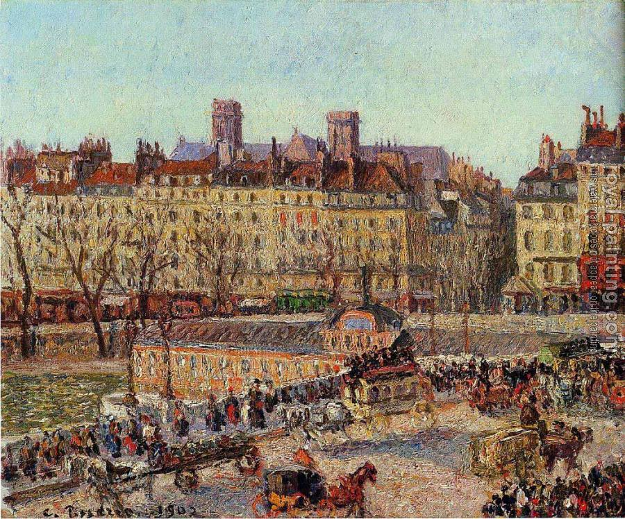 Camille Pissarro : The Baths of Samaritaine, Afternoon