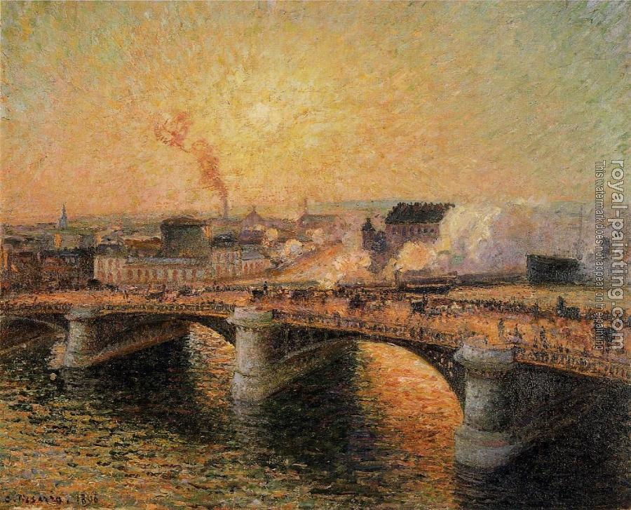 Camille Pissarro : The Boieldieu Bridge, Rouen, Sunset