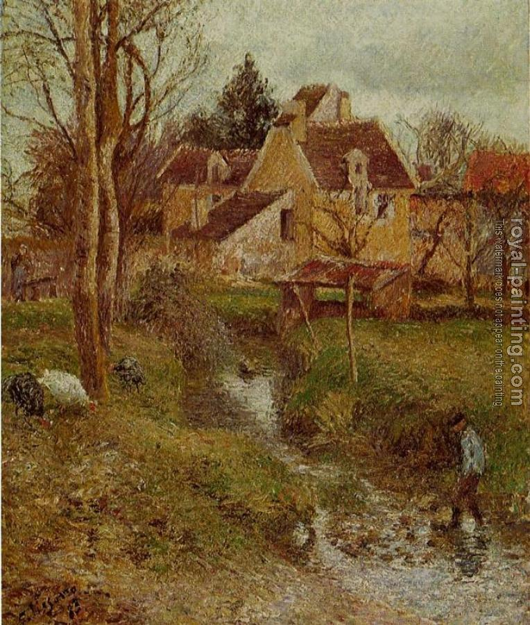 Camille Pissarro : The Brook at Osny