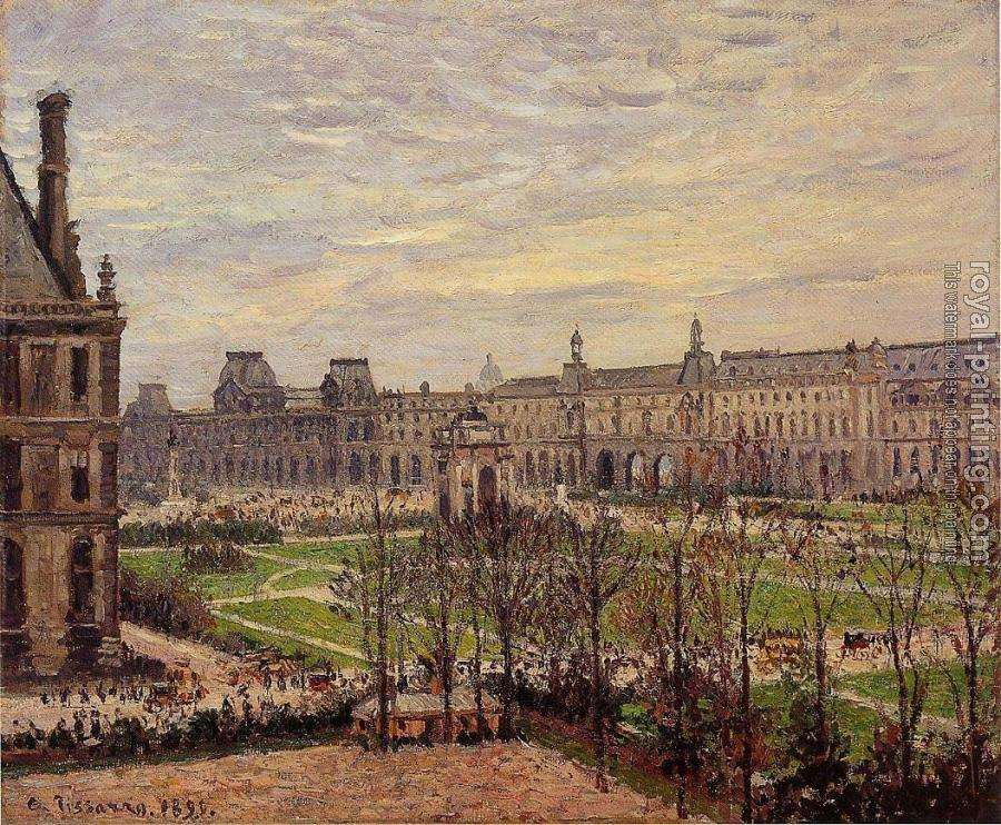 Camille Pissarro : The Carrousel, Grey Weather