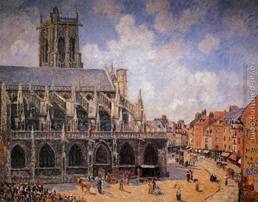 Camille Pissarro : The Church of Saint-Jacques, Dieppe, Morning Sun