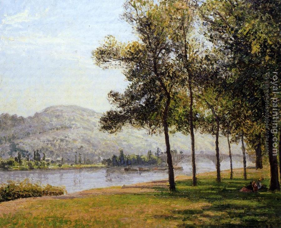 Camille Pissarro : The Cours-la-Reine at Rouen, Morning, Sunlight