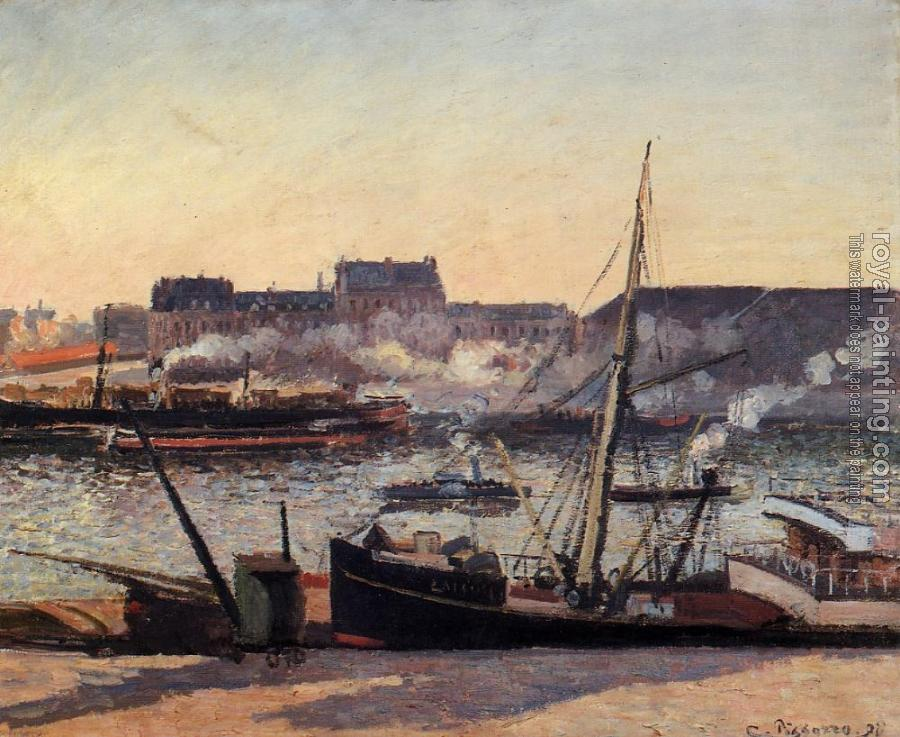Camille Pissarro : The Docks, Rouen, Afternoon