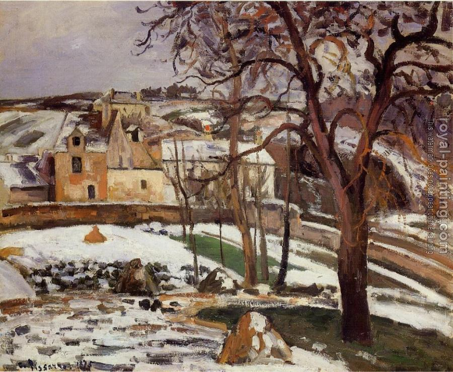 Camille Pissarro : The Effect of Snow at l'Hermitage II
